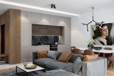 Цена натяжного потолка с подсветкой на кухне 25м2